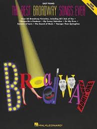 hal leonard the best broadway songs ever long u0026 mcquade musical