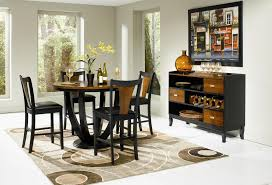 Black Dining Room Table And Chairs by Coaster Boyer 5 Piece Counter Height Table And Chair Set Coaster