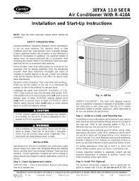 carrier 38txa user manual 8 pages