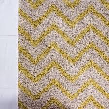 Chevron Runner Rug Uk Contemporary Yellow U0026 Beige Chevron Shaggy Runner Rug Helsinki