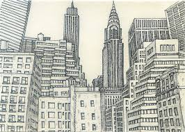 new york city sketch 3 by sketchmodern on etsy beautiful