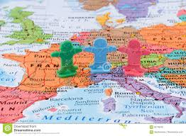 Map Of The European Union by Map Of The Western Europe European Union Stability Concept Stock
