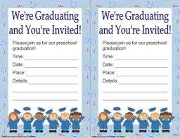 preschool graduation invitations diplomas certificates graduation invitations editable