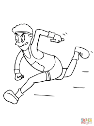 running relay race coloring page free printable coloring pages