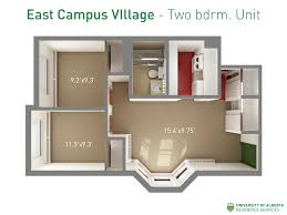 Floor Plan Of A House With Dimensions Our Residences Residence Services University Of Alberta