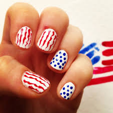 how to fourth of july patriotic nail art pedicure com