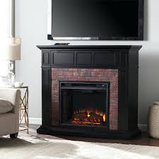 gotham electric fireplace media console in black entertainment