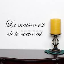 aliexpress com buy french house quotes wall stickers la maison
