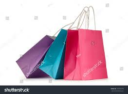 colourful paper shopping bags isolated on stock photo 110370773