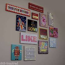 illuminated led canvas picture light assorted designs for