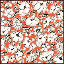 Large Floral Print Curtains Vintage Fabric Page 1