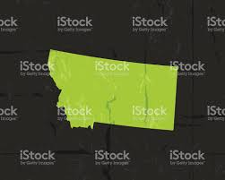 Map Of Montana State by Detailed Map Of Montana State Grunge Style Stock Vector Art