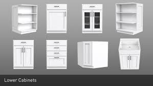 3d model shaker style modular customizable kitchen cabinets 16