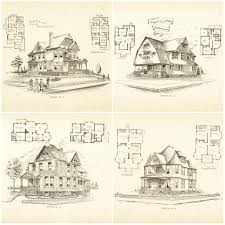 architectures blueprint for houses free free vintage printable
