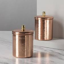 copper kitchen canisters metal kitchen canisters jars you ll wayfair