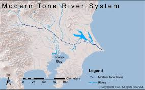 Asia Rivers Map by Impact Of Anthropogenic Changes On Liquefaction Along The Tone