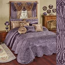 Oversized Quilted Bedspreads Portia Ii Amethyst Quilted Oversized Bedspread Bedding