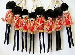 vintage handmade wooden wood pipe cleaner pom pom clothespin