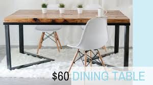 diy scandinavian dining table wood u0026 metal recycled wood youtube