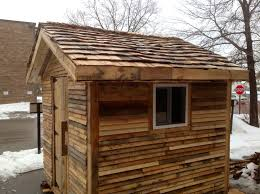 Home Depot Storage Sheds 8x10 by I Used Pallet Pieces For The Wood Shingles Home Depot Donated Two