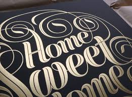 Home Design Gold Edition by Seb Lester Home Sweet Home Gold Foil Edition