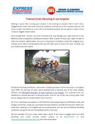 professional drain cleaning in los angeles
