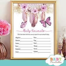 butterfly baby shower boho butterflies baby shower dreamcatcher d233 baby