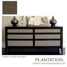 fabric front dresser faux shagreen plantation