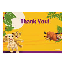 Lion King Decorations Creat And Thank You Lion King Birthday Party Card Decorations