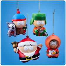 south park ornament set stan kyle kenny cartman hanging