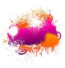 purple and orange paint splatter vector free images at clker com