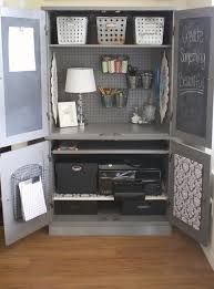 Office Desk Armoire Cabinet No Office No Problem Repurpose A Media Cabinet Or Armoire Into
