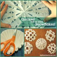 how to make designs on coffee how to make coffee filter snowflakes for an indoor snow adventure