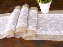 Burlap Lace Table Runner Unique Ideas With Lace Table Runner
