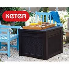 Keter Bench Storage Amazon Com Keter Novel Plastic Deck Storage Container Box