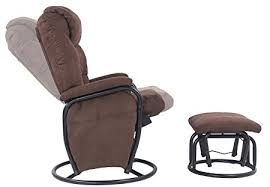 Swivel Rocking Chair With Ottoman Nursery Rocking Chairs Gliders Sears For Reclining Chair With