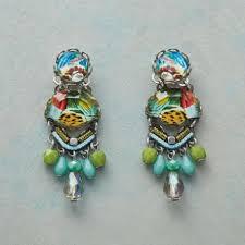 Aegean Chandelier Earrings Turquoise Blue Stud Earrings Robert Redford U0027s Sundance Catalog