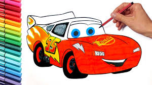 coloring pages lightning mcqueen cars 3 disney learning colors and
