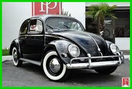 Vw Beetle Classic Interior 1956 Volkswagen U0027oval Window U0027 Beetle Black With Red Interior