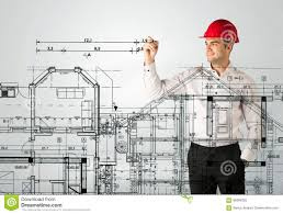 Family House Plan An Young Architect Drawing A House Plan Stock Image Image 65699225