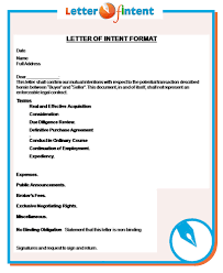 letter of intent format http www letter of intent org what
