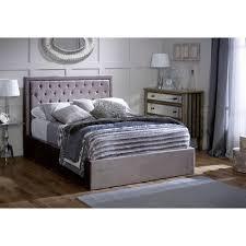 Studded Bed Frame Buy Limelight Rhea Ottoman Silver Bed Frame Big Warehouse