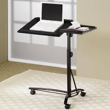 Laptop Desk Chair by Desks Laptop Computer Stand With Adjustable Swivel Top And Casters