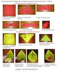 serviette en papier vintage pliage de serviette de table en forme de fleur en forme d u0027arome