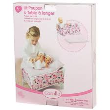 Dolls Changing Table Corolle Les Classiques Floral Doll Bed And Changing