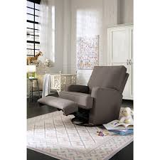 Upholstered Swivel Chairs For Living Room Best Chairs Kersey Upholstered Swivel Glider Recliner Shadow