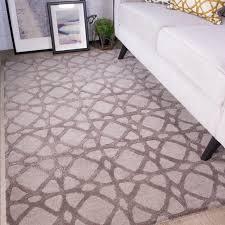 trellis grey geometric wool rug meraki kukoon
