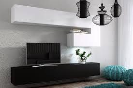 m bel f r wohnzimmer für wohnzimmer future 15 weiß und schwarz matt