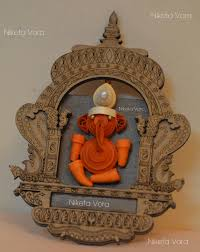 wooden wall hanging paper quilled wall decor ganpati material