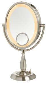 Oval Mirrors For Bathroom by Bathroom Cool Vanity Design Using Lighted Makeup Mirror Plus